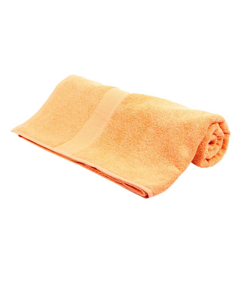 Bombay Dyeing Single Cotton Bath Towel Orange Buy Bombay Dyeing