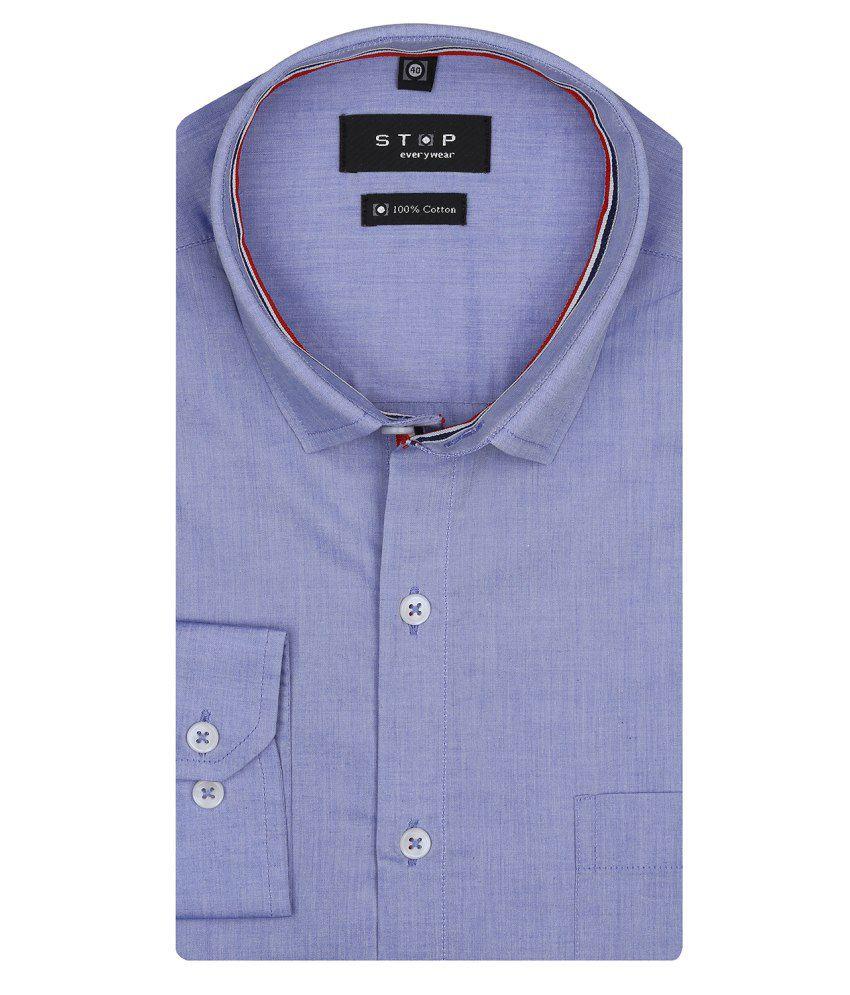 STOP Blue Formal Shirt