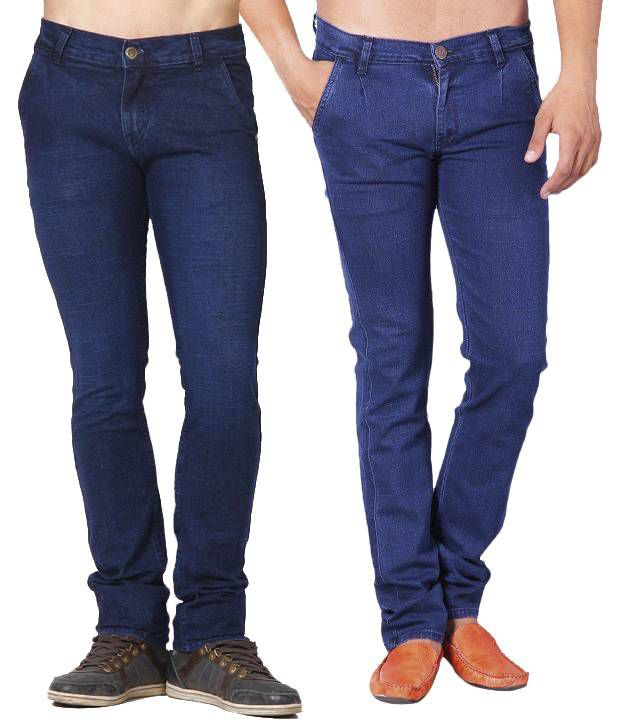 Skeeper Blue Slim Fit Combo of 2   Jeans
