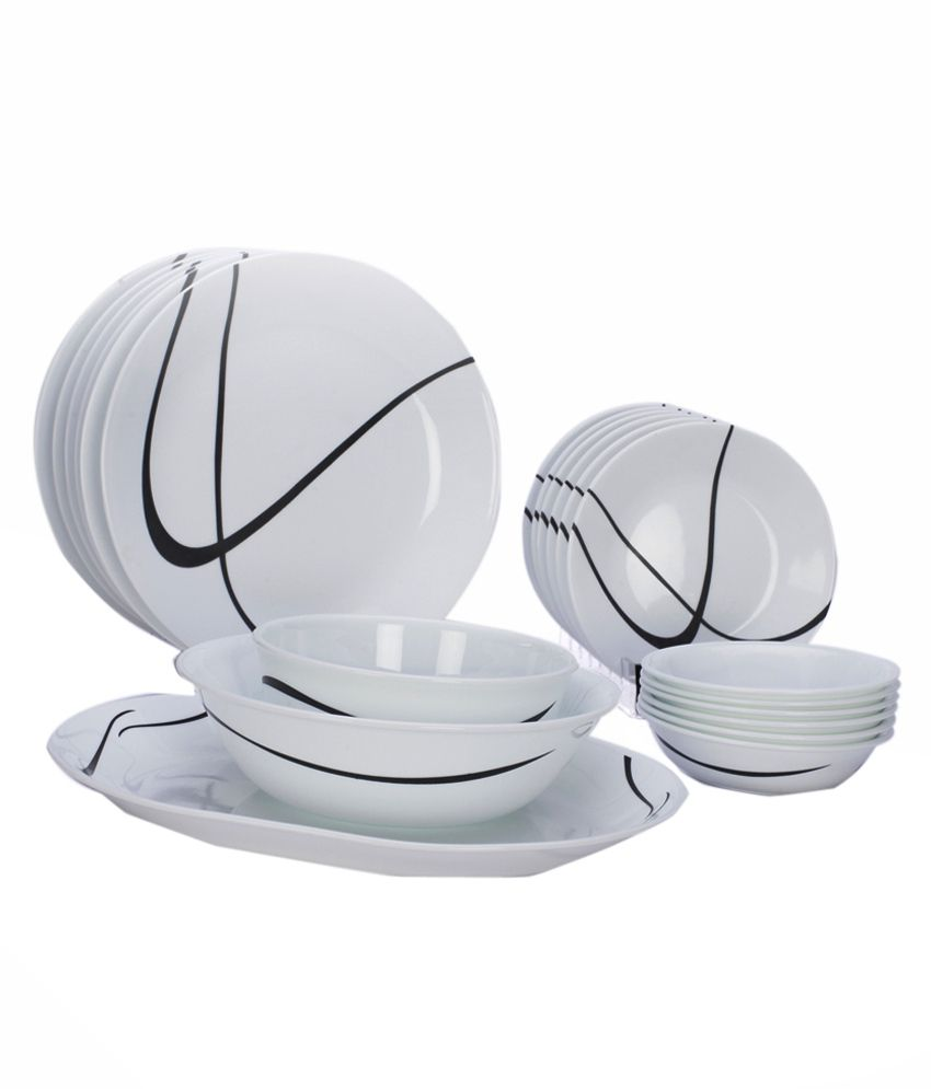 corelle dinner set price in india. corelle 21 pcs dinner set-india impressions twists \u0026 turns set price in india