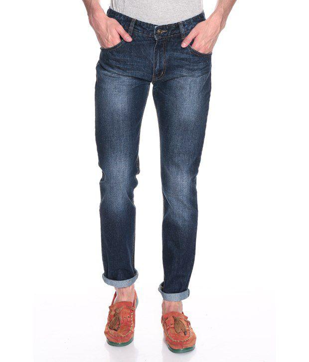 Haute Couture Blue Regular  Fit Jeans
