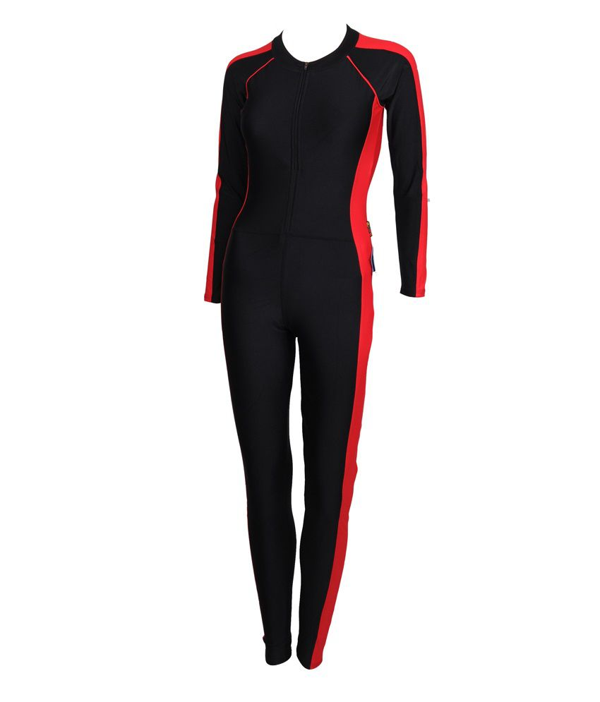 aa7d221da4 Madmax Swimwear - Body Suit Red/Black/ Swimming Costume: Buy Online at Best  Price on Snapdeal
