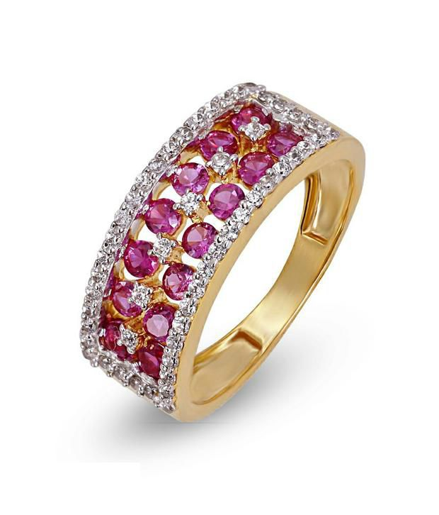 Shashvat Jewels 18kt The Ruby Family Ring