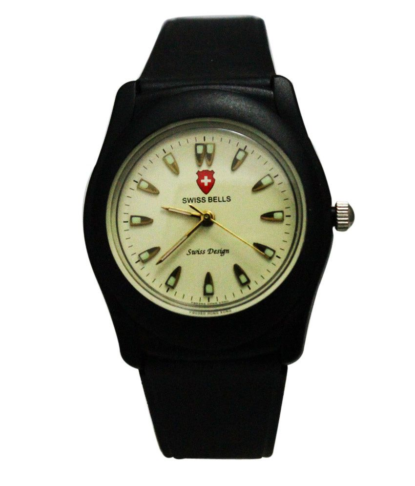 Svviss Bells Svviss Bells Trendy Off White Radium Dial Water Proof Watch