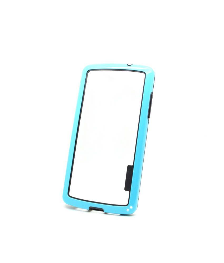 callmate bumper case cover for lg nexus 5 sky blue