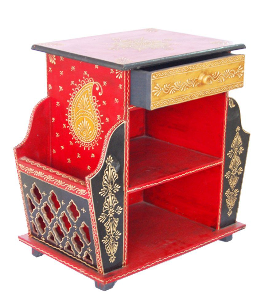 Handd painted Magazine holder with drawer
