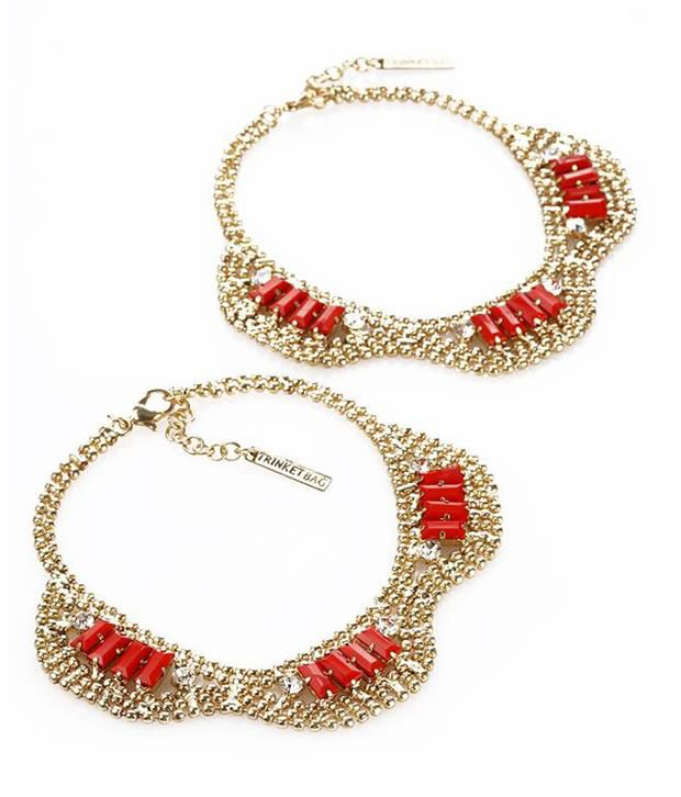 Trinketbag Treasure trove anklets - Red