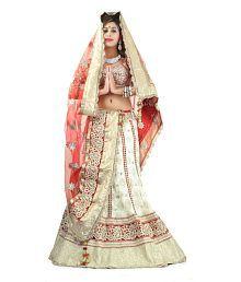 Triveni Exquisite Traditional Embroidered Wedding Wear Viscose Lehenga Choli