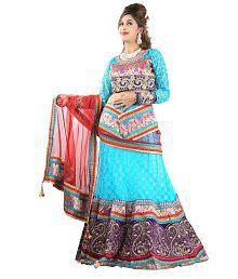 Triveni Tantalizing Traditional Embroidered Wedding Wear Net Lehenga Choli