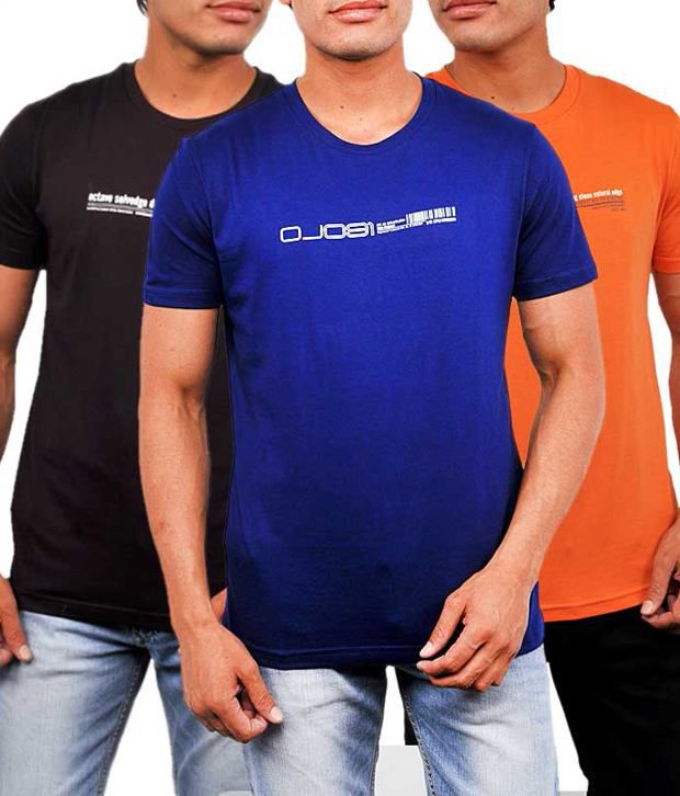1eff2c5b3 Octave Multi Cotton T-Shirt(Pack of 3) - Buy Octave Multi Cotton T-Shirt( Pack of 3) Online at Low Price - Snapdeal.com
