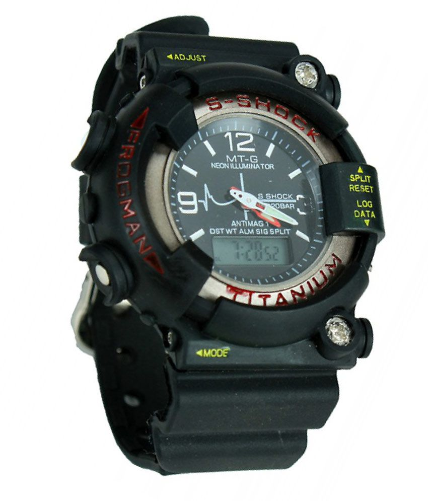 s shock black sport wrist watch for men buy s shock black sport s shock black sport wrist watch for men