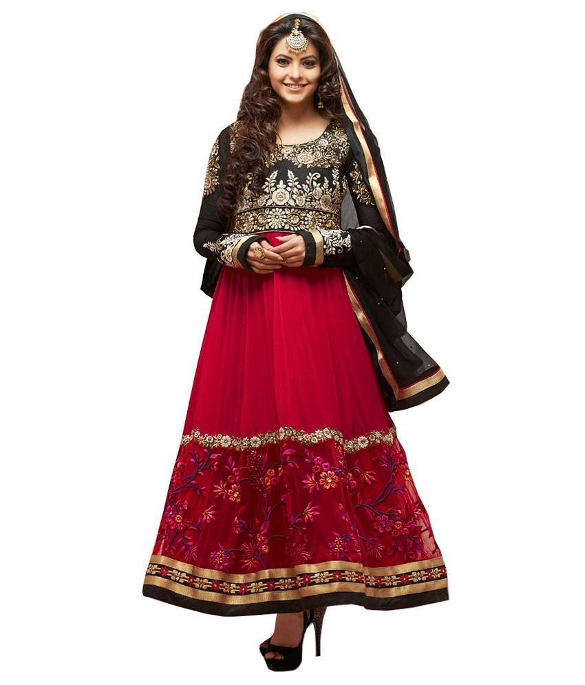 Craze N Demand Pink Beautiful Designer Wear Salwar Kameez Anarkali Suits (multicolor)