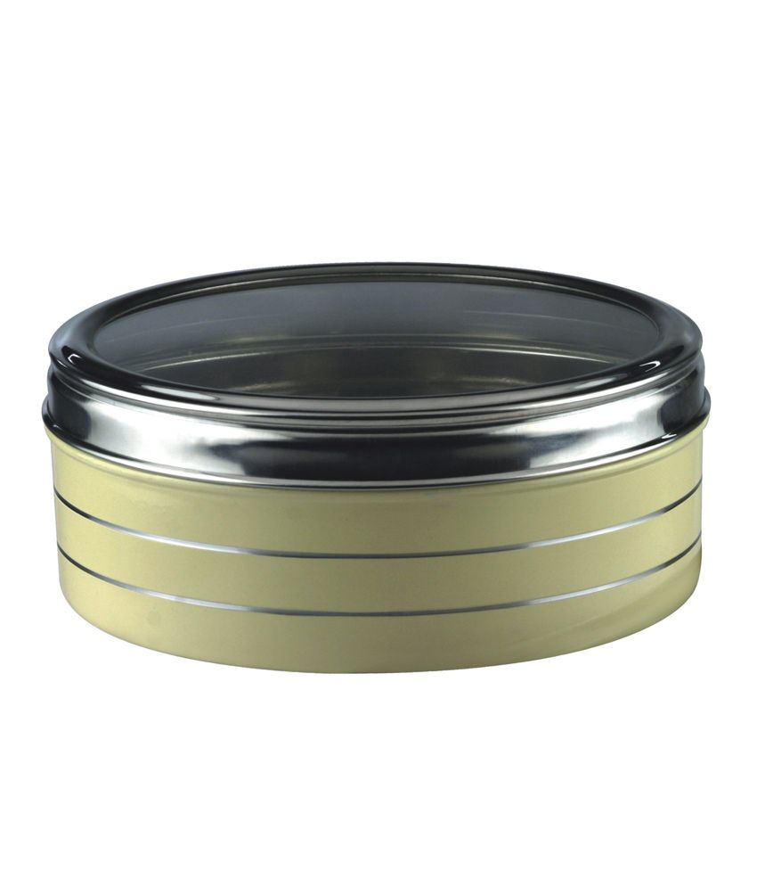 Stainless Steel Painted Candy Box Round Tin Cake Tin