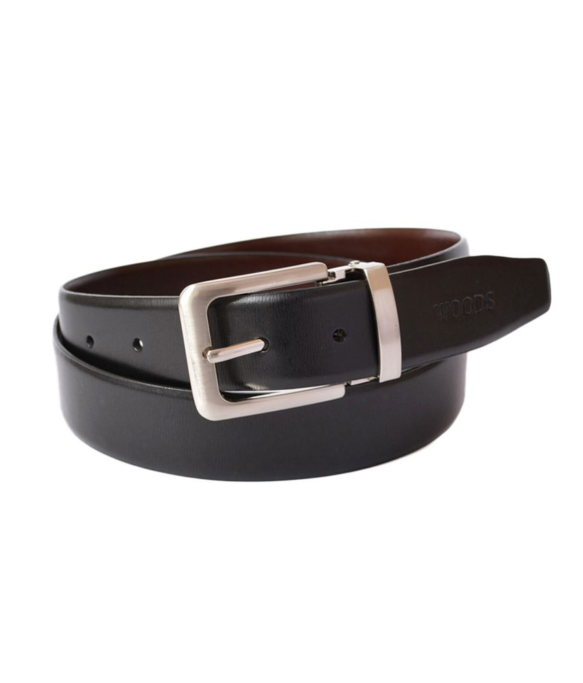Woodland Black And Brown Leather Formal Belt