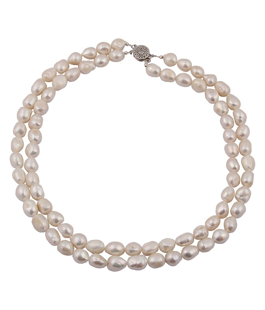 Pearlz Ocean I- Blush White Fresh Water Pearl 18 Inches Necklace