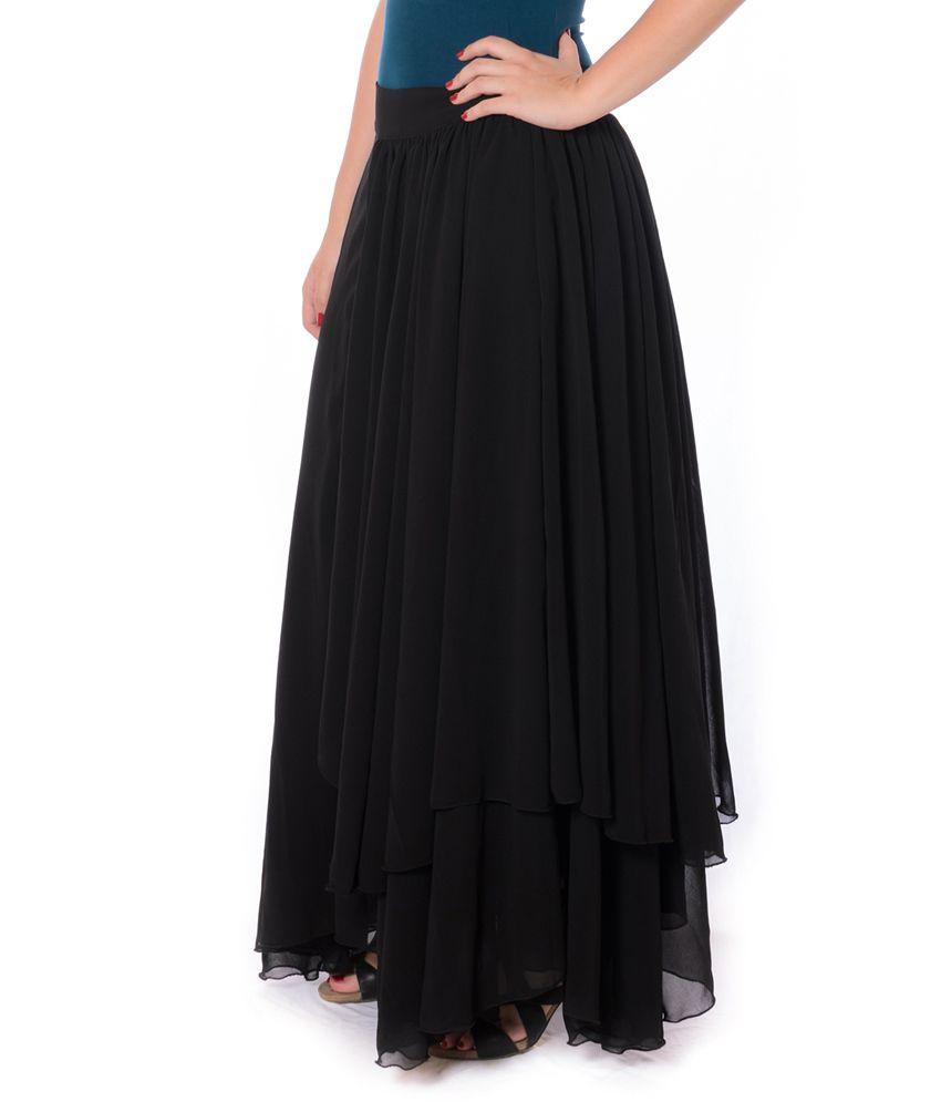 Georgette Long Skirts Online | Jill Dress