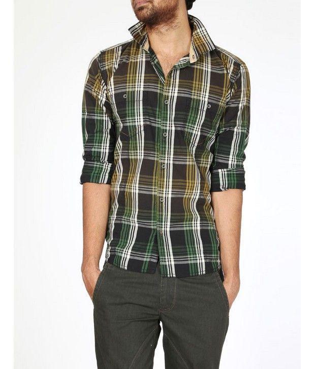 Basics 029 Black Checkered Shirt