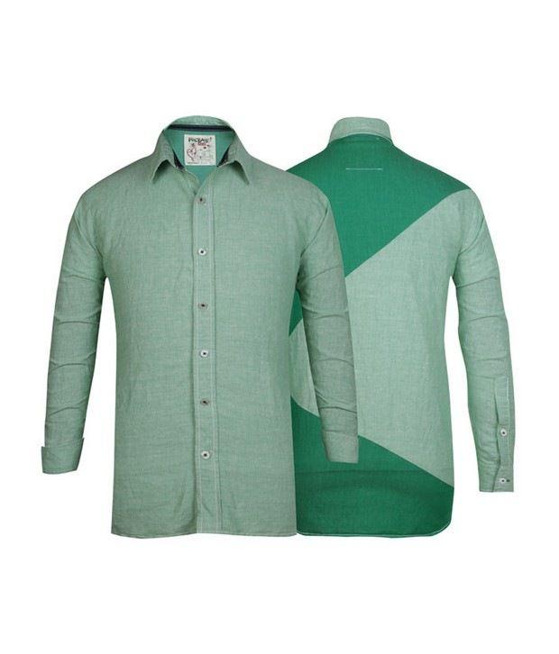 Probase Green Striped Shirt