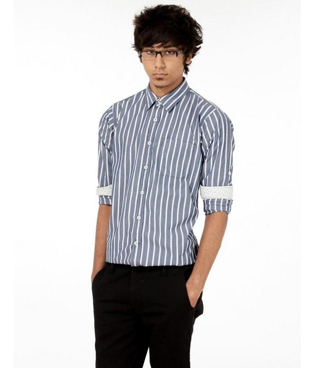 Probase Navy Striped Shirt