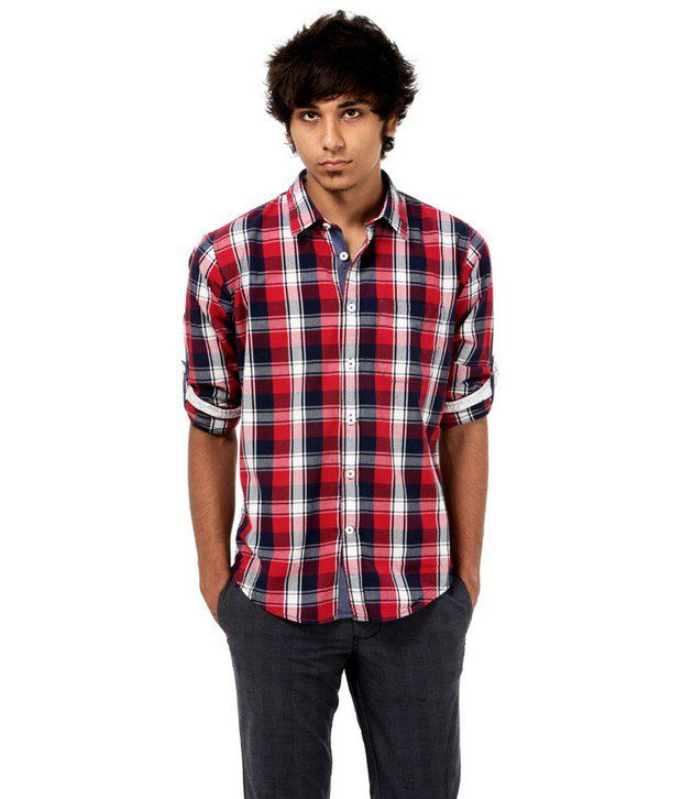 Probase Red Checkered Shirt