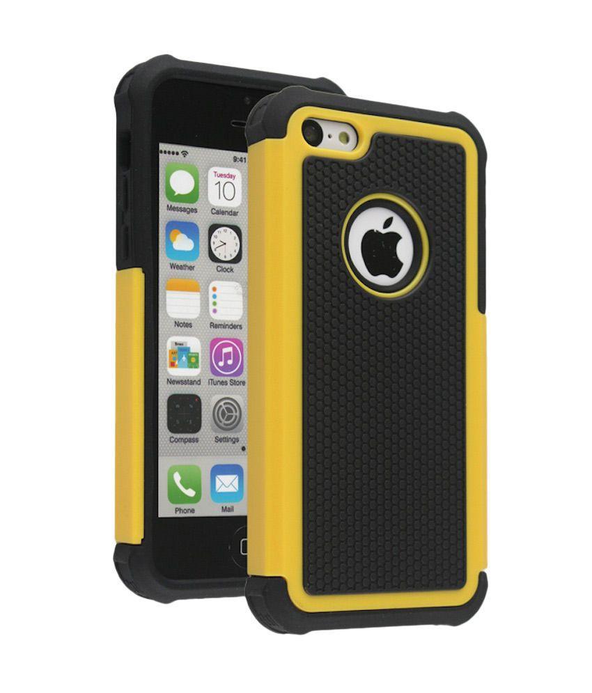 Bracevor Back Cover Cases for Apple iPhone 5C - Yellow ...
