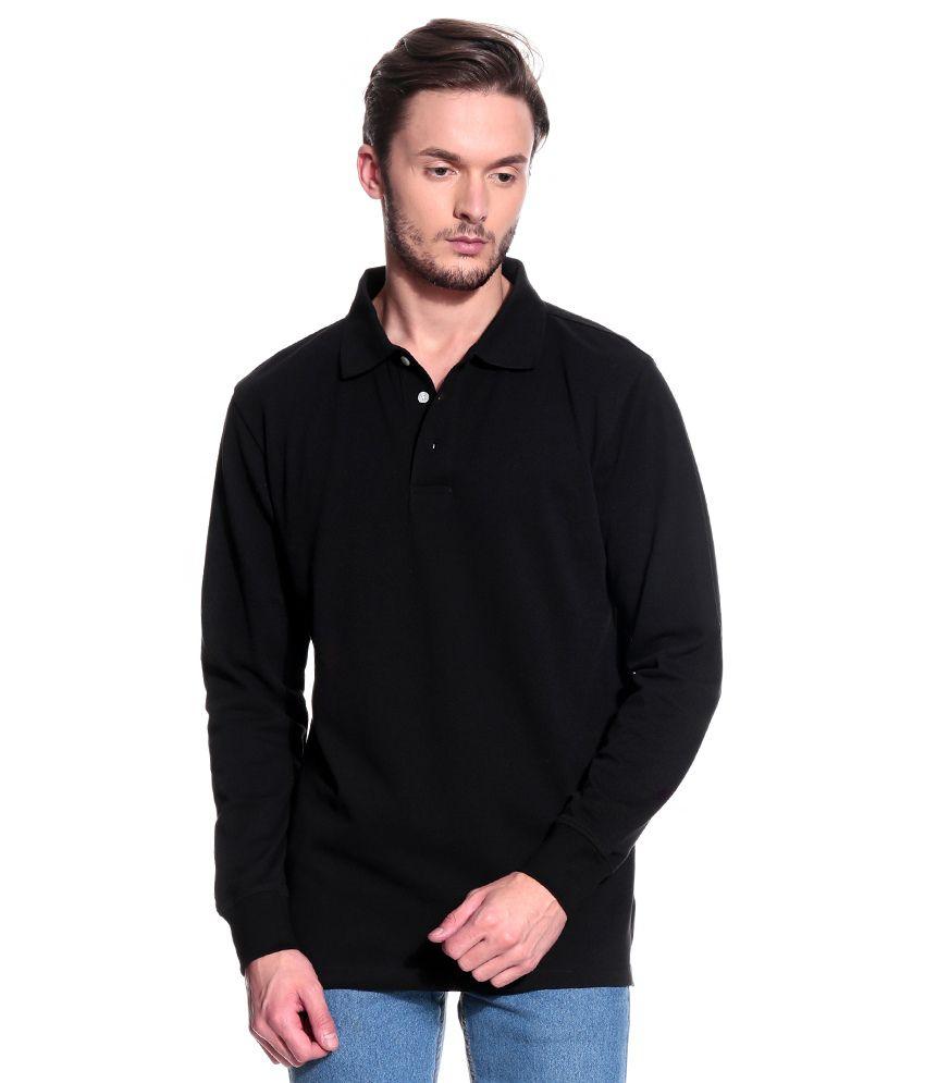 T10 Sports Black Full  Polo T-Shirt