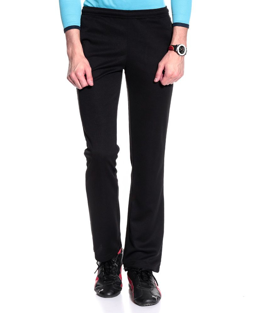 T10 Sports Black Polyester Trackpants