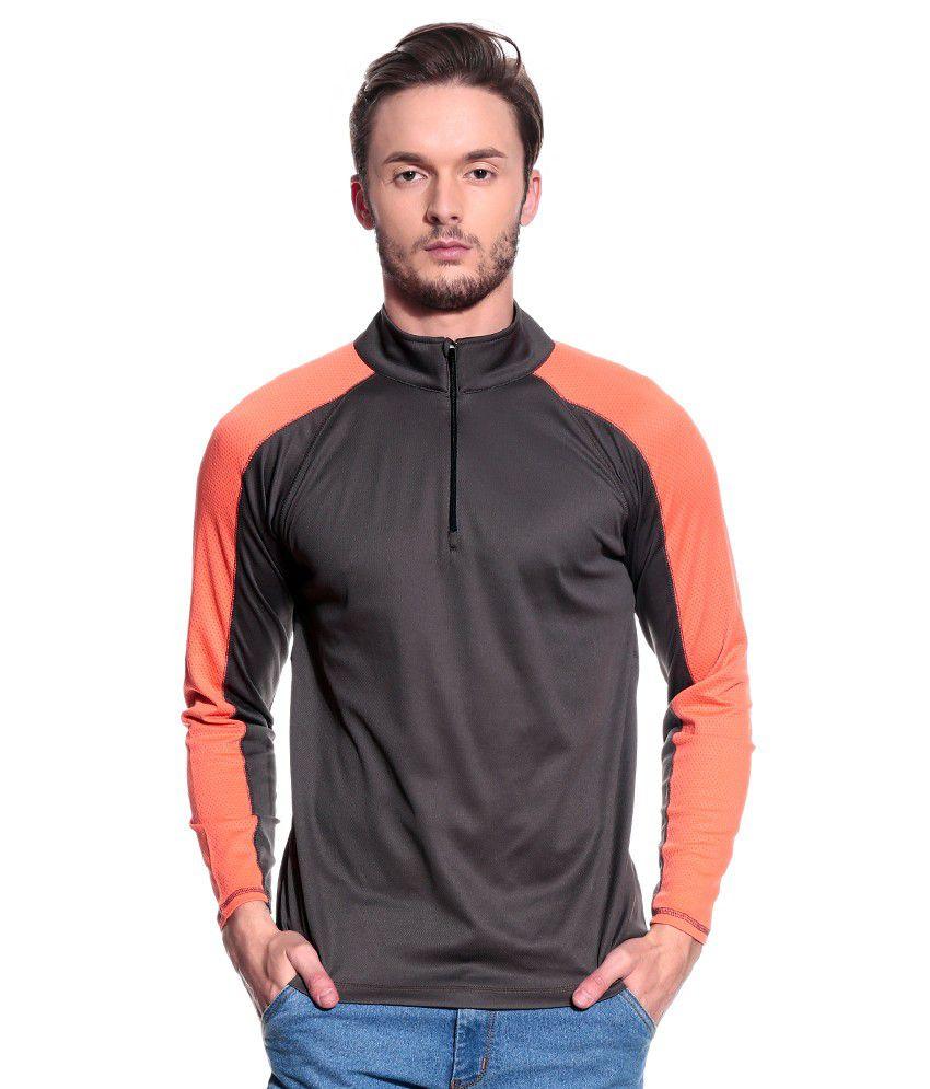 T10 Sports Gray Full  Polo T-Shirt