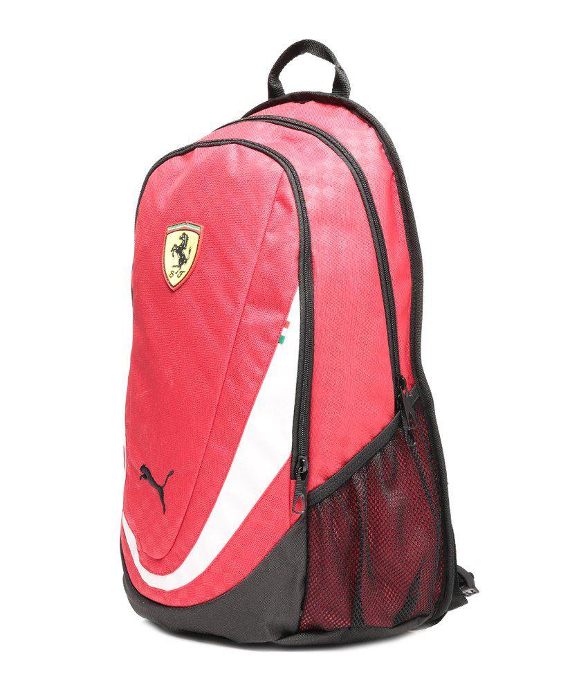 Puma Ferrari White   Black Replica Backpack - Buy Puma Ferrari White ... 16f16529fc