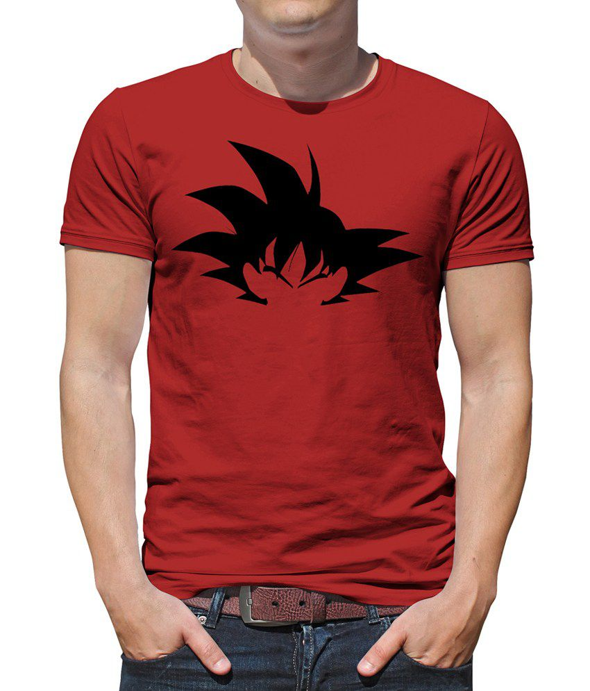 redwolf red dragon ball z goku silhouette printed t shirt buy redwolf red dragon ball z goku. Black Bedroom Furniture Sets. Home Design Ideas