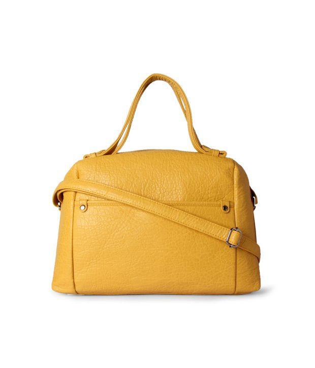 Van Heusen 8907063894305 Yellow Satchel Bags