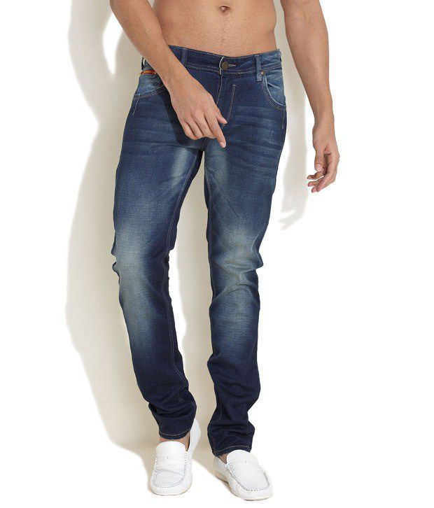 Le Bison Blue Slim Fit Jeans