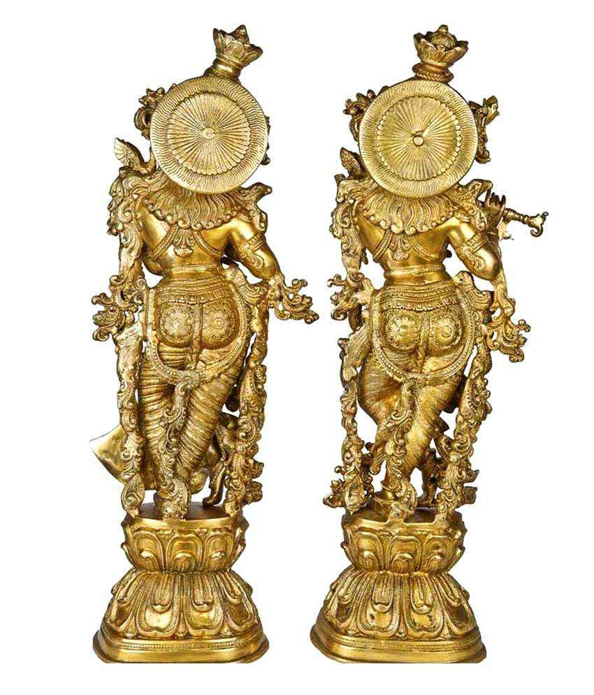 7c9114378b5 ... Lord Radha Krishna Statue for your home decoration Brass metal made  figure by Ashopi