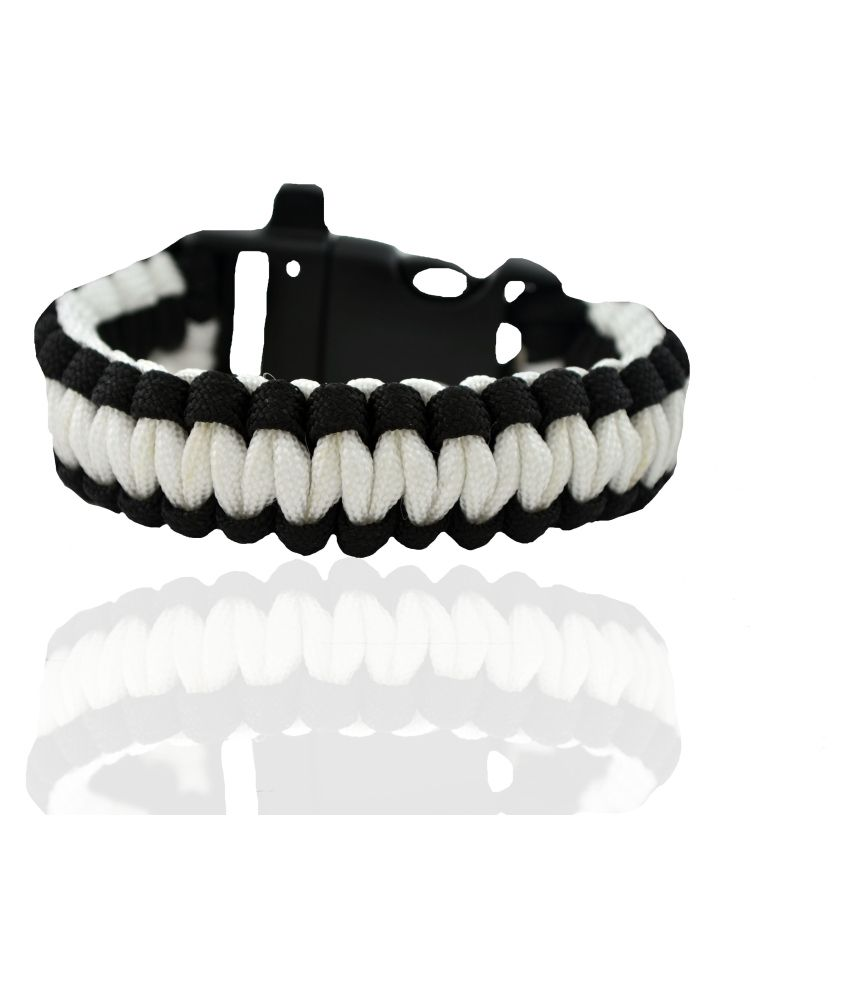 Aero Sport Black and White Dual Tone Survival Rope Bracelet