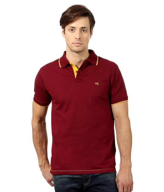 52b808569dc Peter England Maroon Half Polo T-Shirt - Buy Peter England Maroon Half Polo  T-Shirt Online at Low Price - Snapdeal.com