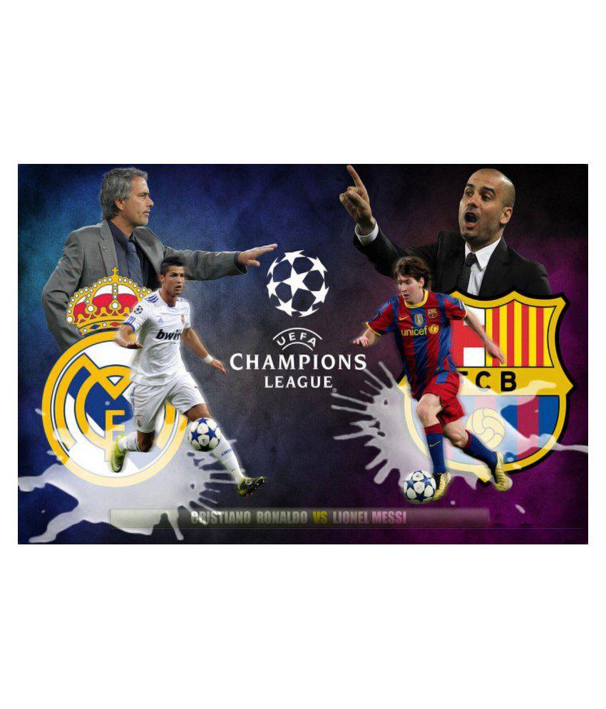 promo code 2a189 f7fa2 Amore Lionel Messi Vs Cristiano Ronaldo Poster: Buy Amore ...