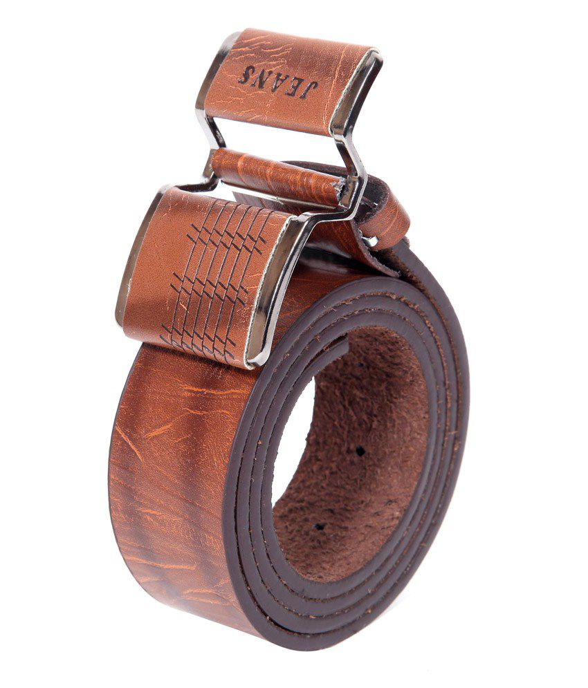 Coaster Stylish Leather Pin Buckle Belt Buckle Brown
