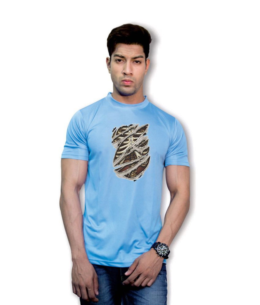 Effit Rib Cage Blue Dri-Fit T-Shirt
