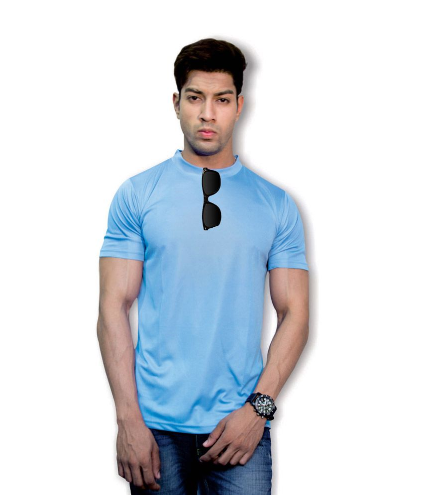 Effit Stately 3D Design Blue T-Shirt