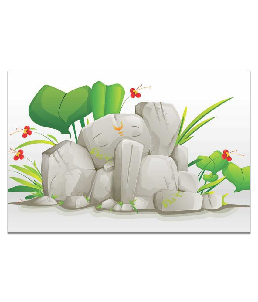Finearts Ganesh Rock Canvas Wall Painting