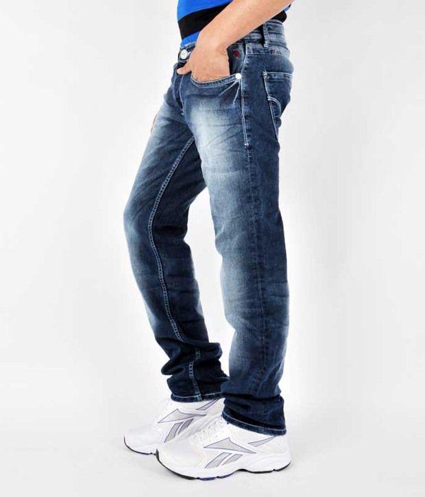 Mufti Men Jeans With Lycra Denim Slim Fit