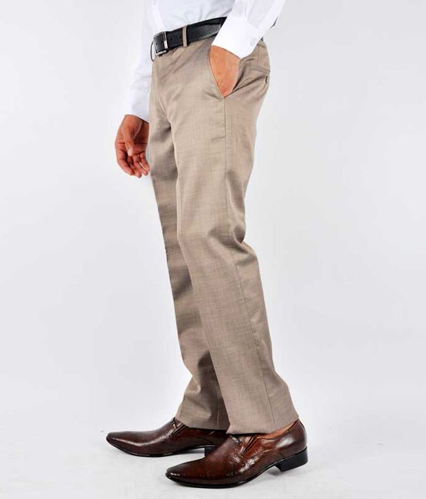 Van Heusen Formal Trousers Brown Formal