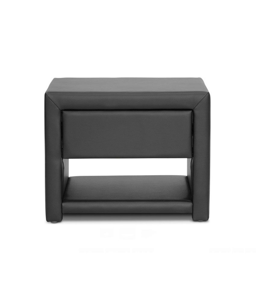 Rainforest Italy Black Cushioned Bed Side Table Rfst/06