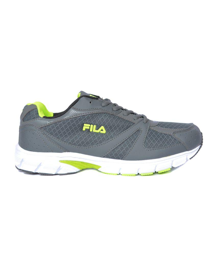 fila runners. fila runners grey, black \u0026 green sports shoes o