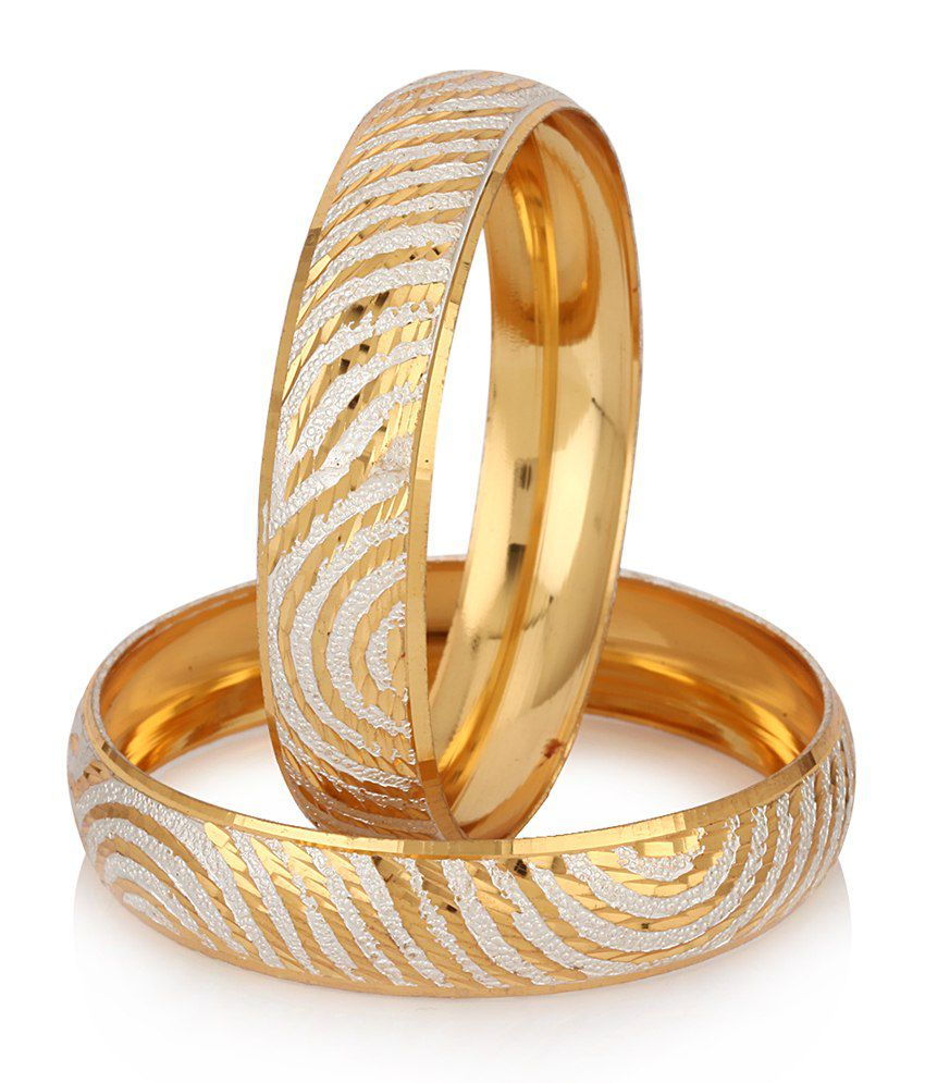 Bangles With Price: Jewels Galaxy Well Crafted Gold Plated Bangles: Buy Jewels