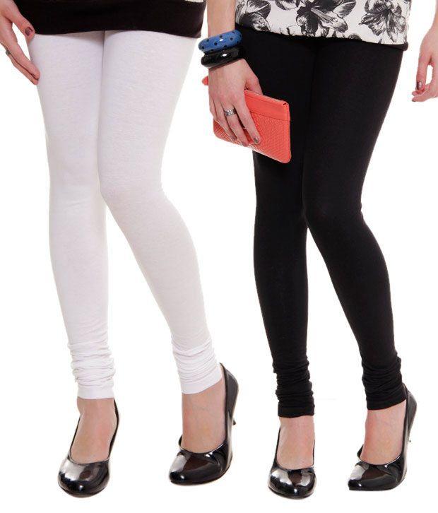 c1545feef3ba4 Lux Lyra Black & White Leggings Price in India - Buy Lux Lyra Black & White  Leggings Online at Snapdeal