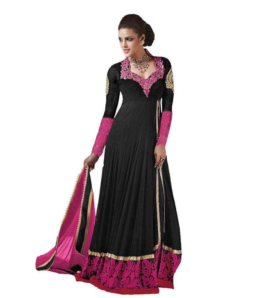 Indiweaves Festival Special Long Anarkali Party Wear Salwaar Suit Dress Material