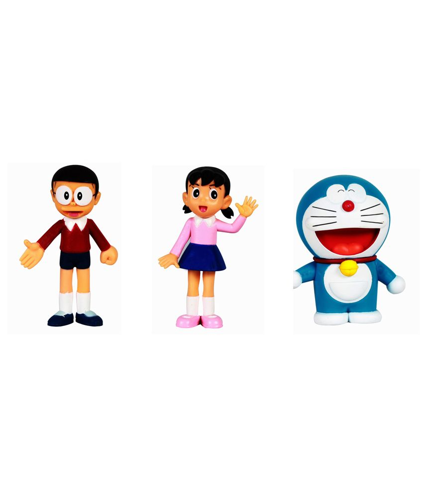 nobita doremon laughing shizuka 3 action figurines toy buy nobita