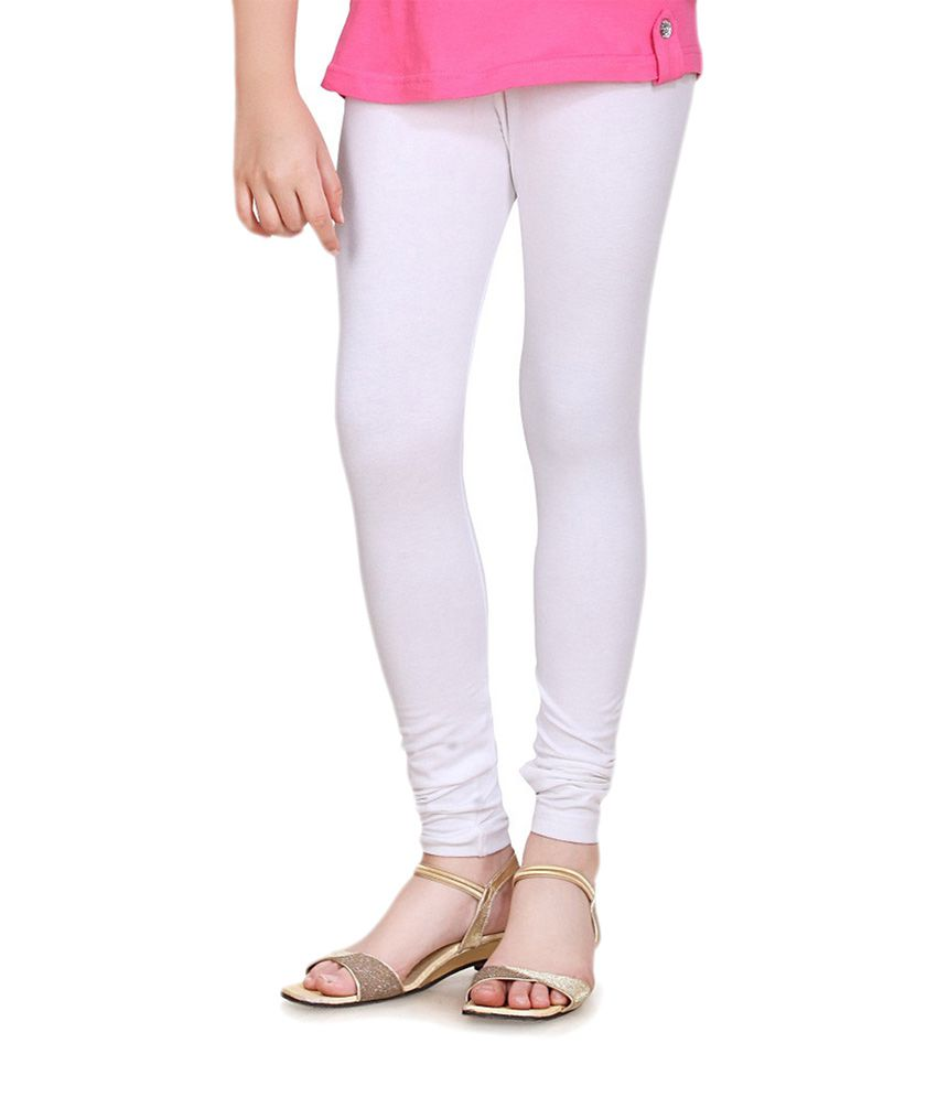 Sinimini Girls Pretty White Leggings - Buy Sinimini Girls Pretty ...