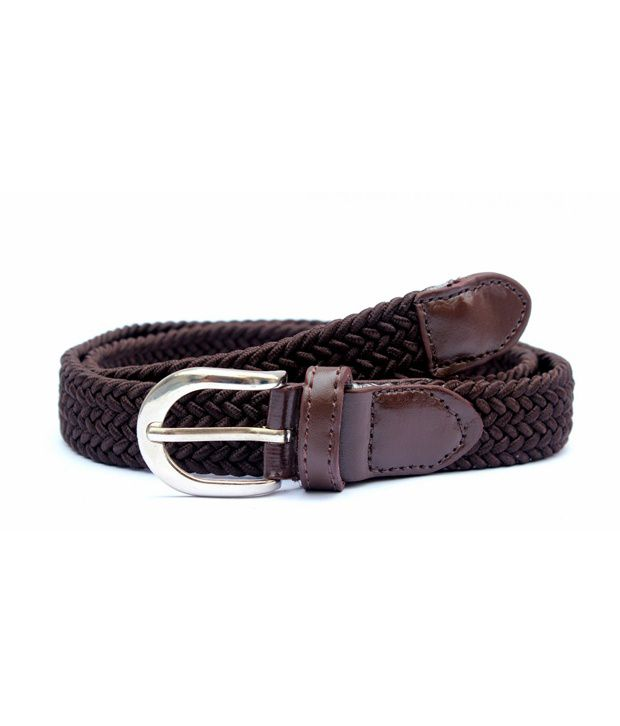 IMP Brown Narrow Elastic Casual Imp 3002 Belt